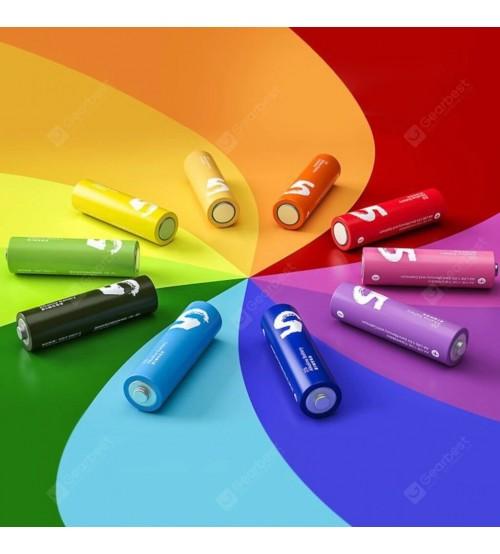 10 x Orijinal ZMI ZI5 / ZI7 Rainbow AA ve AAA Alkalin Pil - Renkli