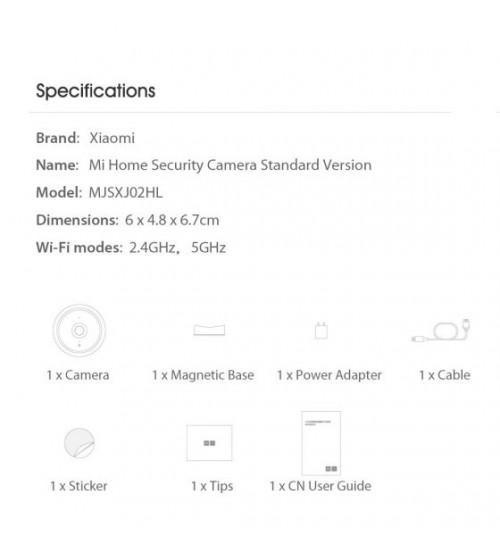 Xiaomi Mi Home 1080p Manyetik Montaj Güvenlik Kamerası